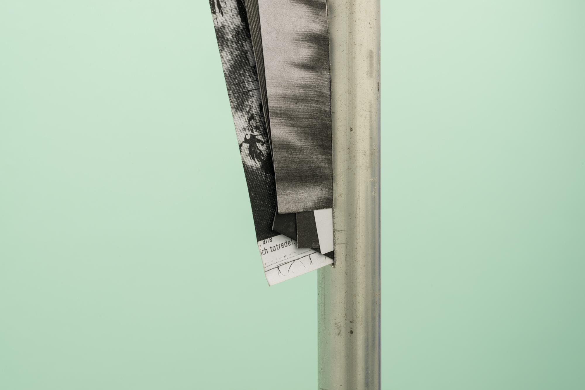 6. Manor Grunewald untitled alluminium & photocopy