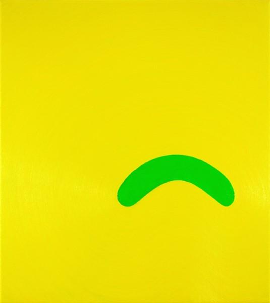 2015 Pickle Frown, 2015, oil on linen, 46cm x 51cm