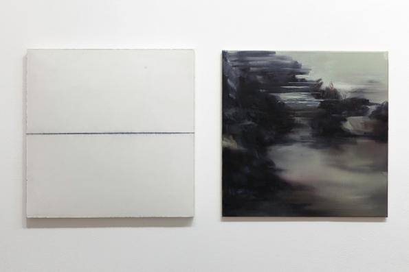 02. Marco La Rosa, gesso e pigmento, 50x50cm - Nazzarena Poli Maramotti 50x50cm olio su tela