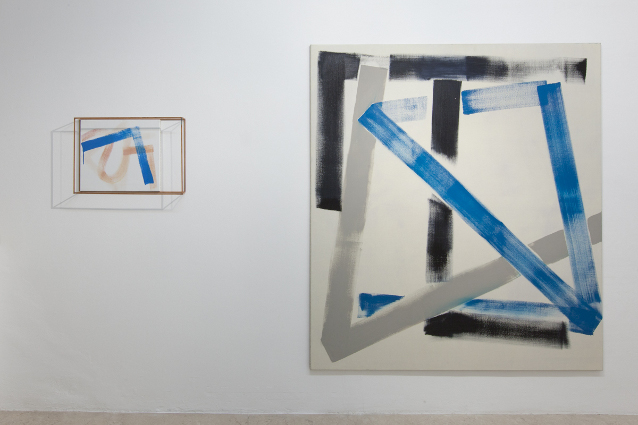 Max Frintrop exhibition view #abstraction A+B gallery, Brescia it
