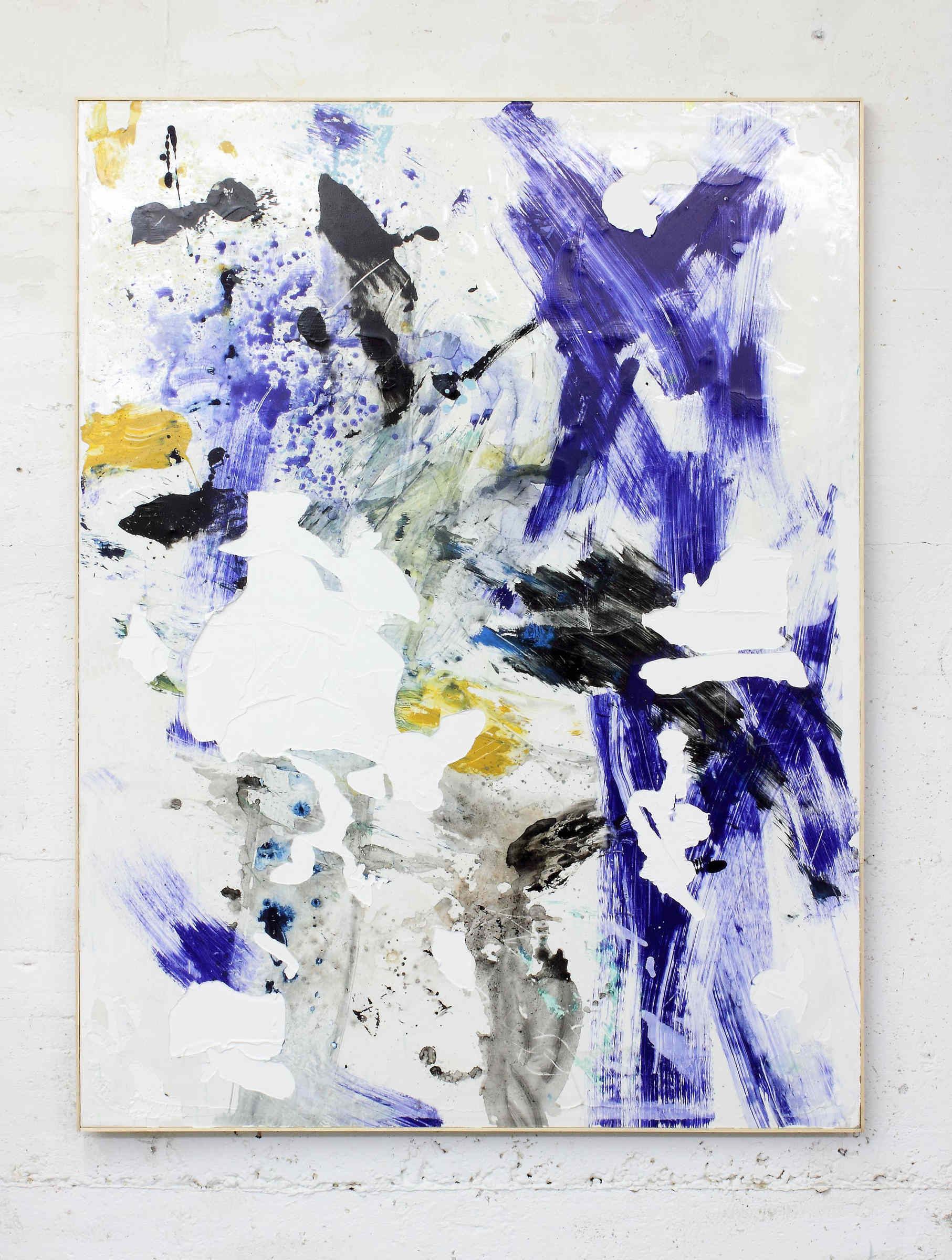 29_Fanta, 2015, acrylic paint, acrylic sediments, dirt from the studio, and acrylic emulsion on canvas, artist frame, cm 161x121