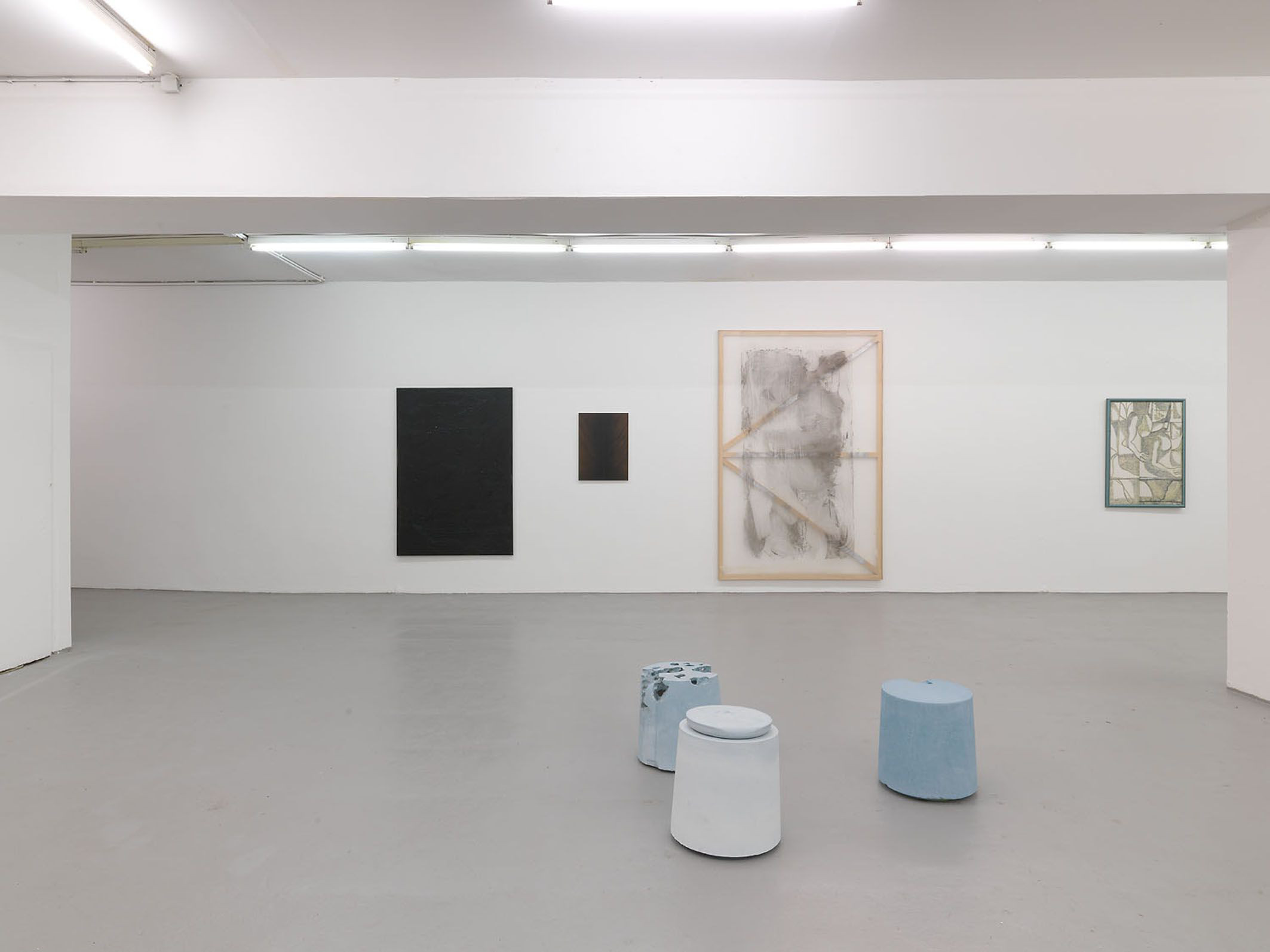 39_Volumes, 2015, exhibition view at Kunstverein Koelberg, with Berthold Pott, Koeln