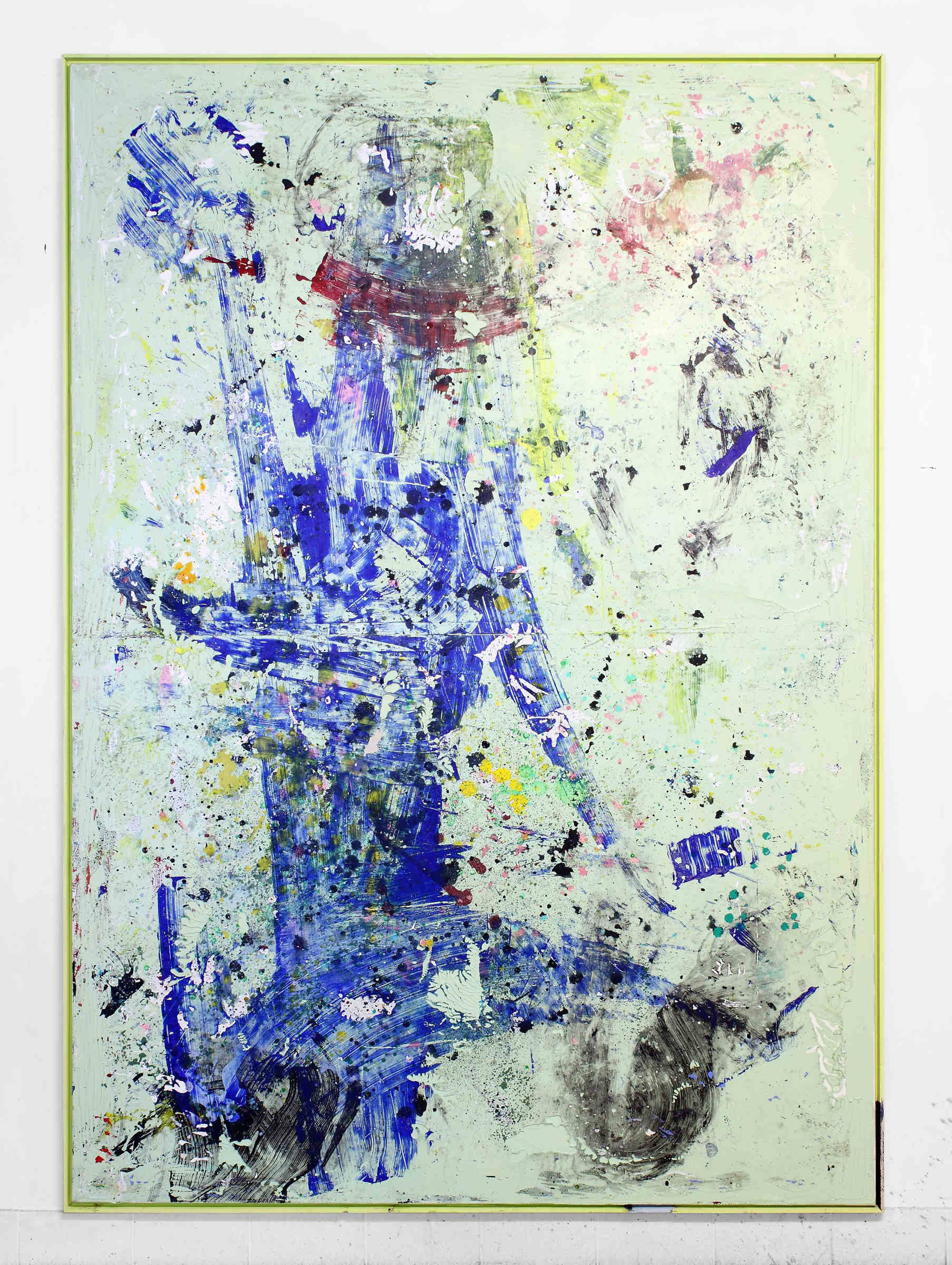 48_tiziano martini, 2016, acrylics, dirt and monothype process on acrylic paint on primer on cotton, artist frame, cm 202x142