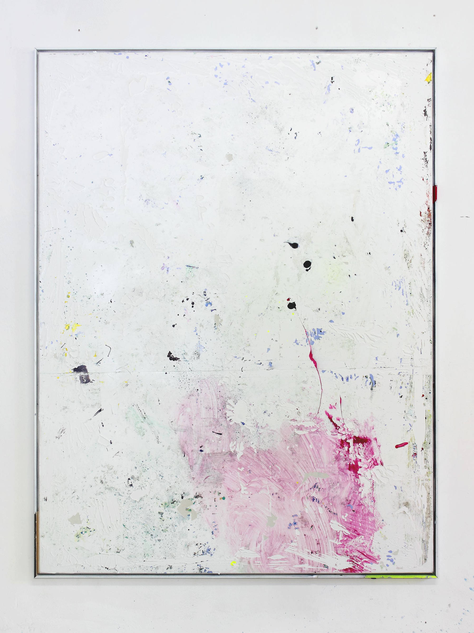 52__tiziano martini, untitled,  2016, acrylics, dirt and monothype process on acrylic paint on primer on cotton, artist frame, cm 162x122
