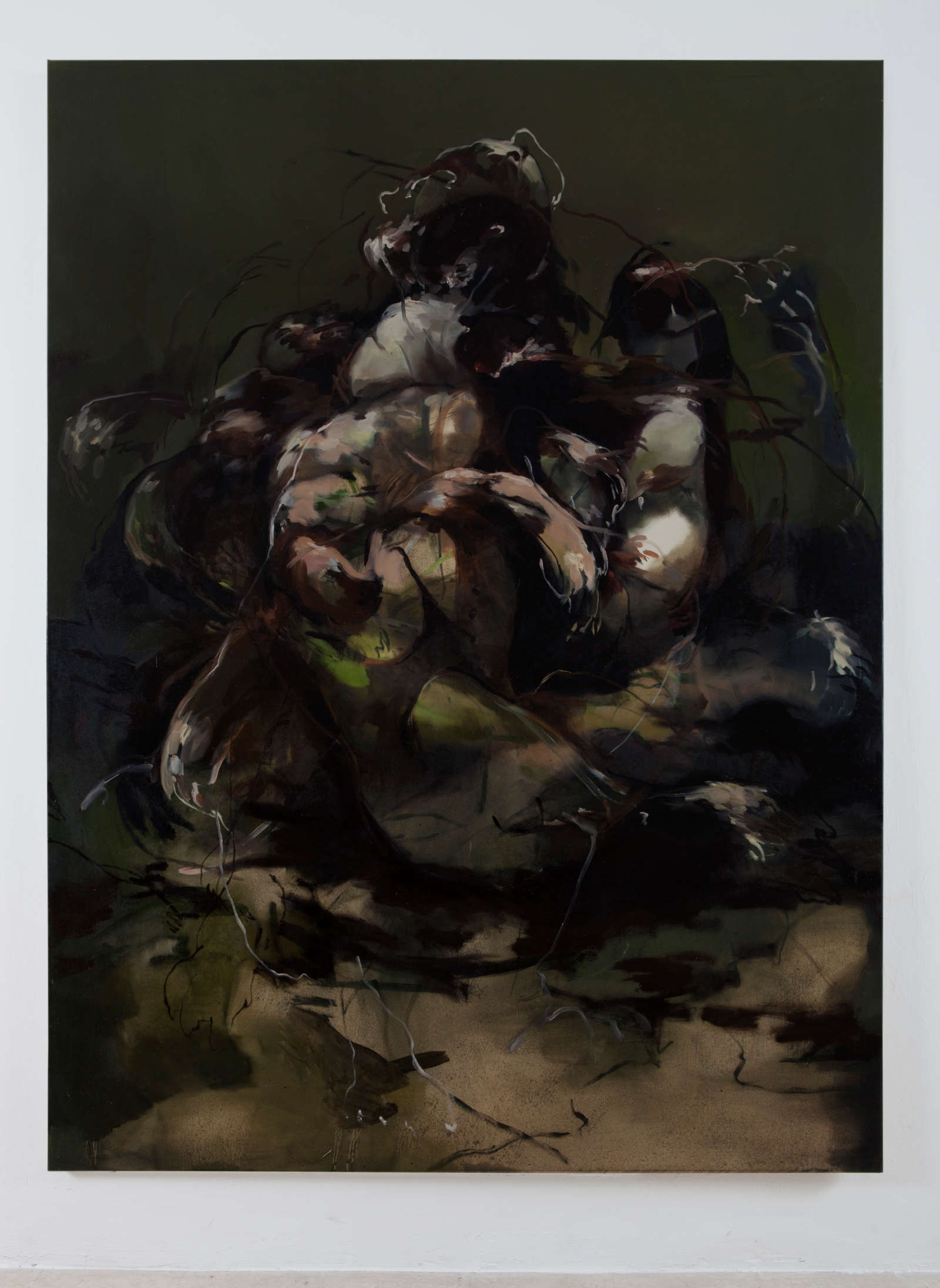 6. NPM, cani, 2015, olio su tela, 200x140cm