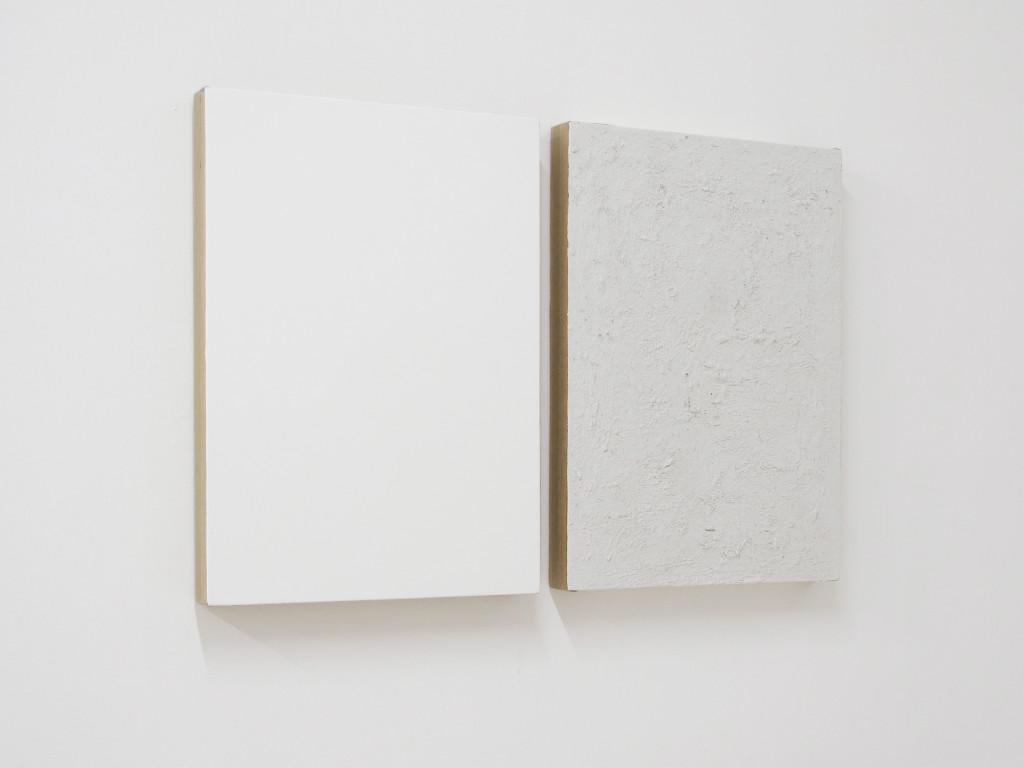 Davide Mancini Zanchi, Bianco e Bianco Sporco, 70x50cm each, 2016