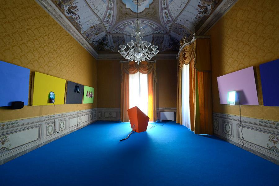 Davide Mancini Zanchi, Senza titolo per...., exhibition view at museo fattori livorno, 2016