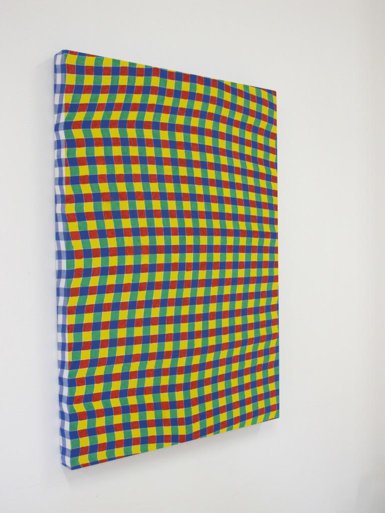 Davide Mancini Zanchi, Untitled, 2016, Acrilico su tovaglia, 120x90cm