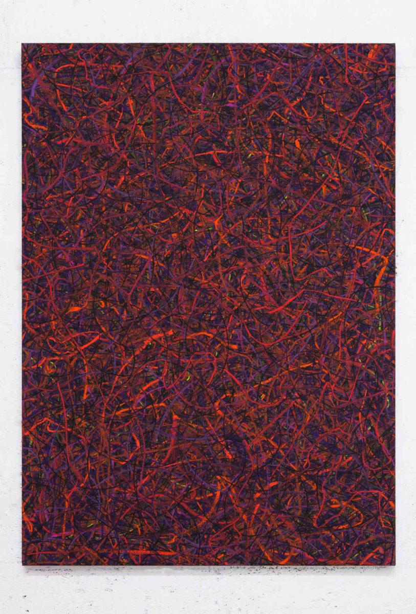 Luca Macauda, untitled, 136x105 cm, pastello morbido su tela, 2014