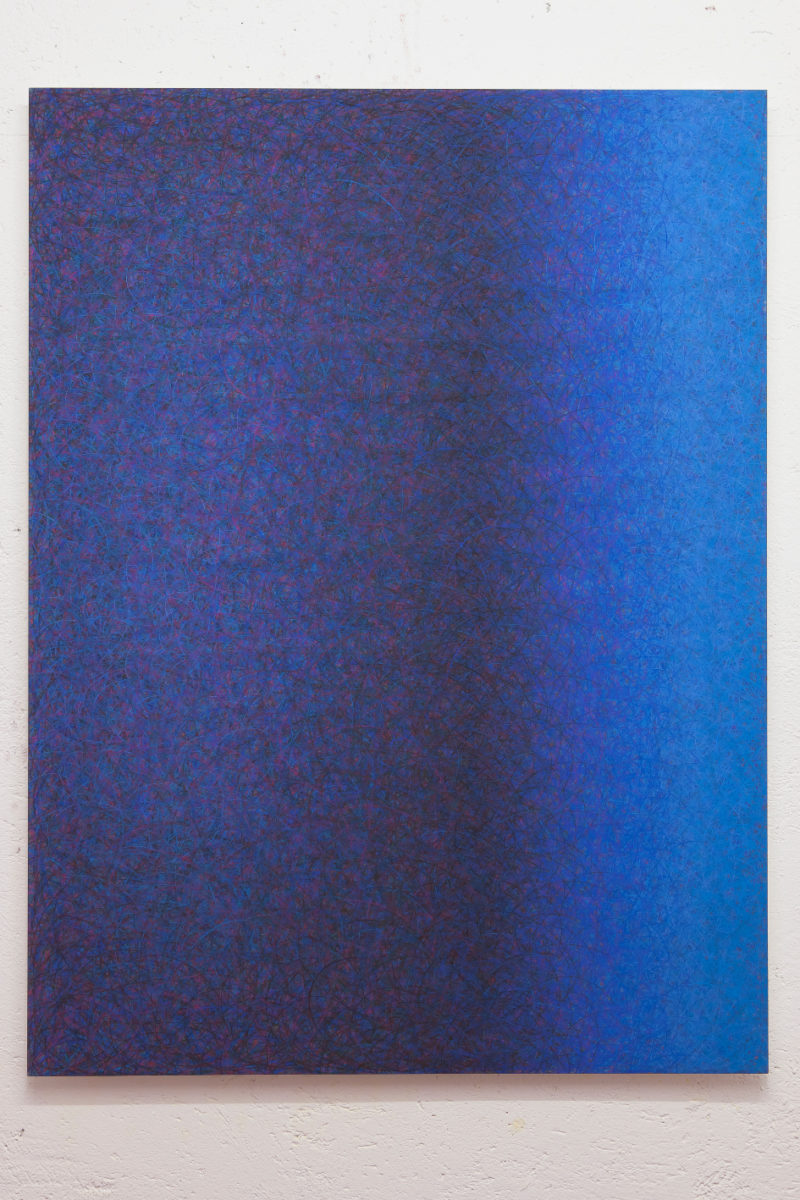Luca Macauda, untitled, 2013, pastello morbido su carta, 136x102cm