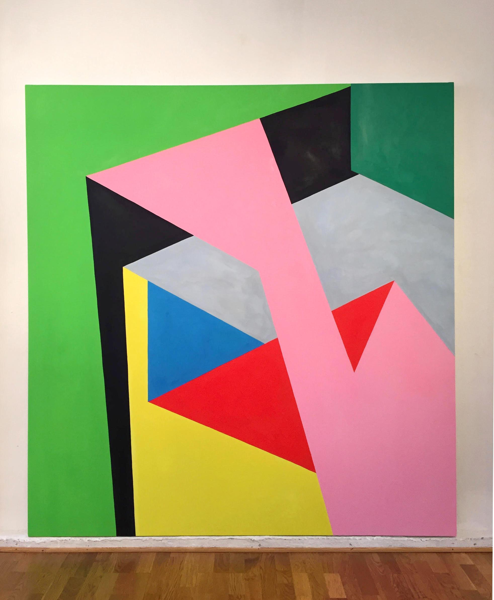Nicola Melinelli, ST, olio su tela 200x190cm - 2016