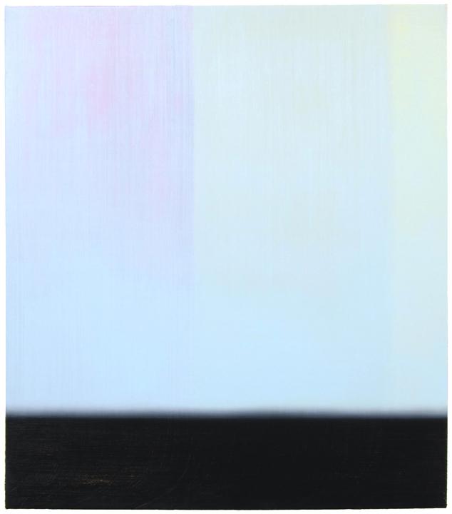 Osamu Kobayashi 2014, Misty Bars, oil on canvas, 48 x 42, 72dpi
