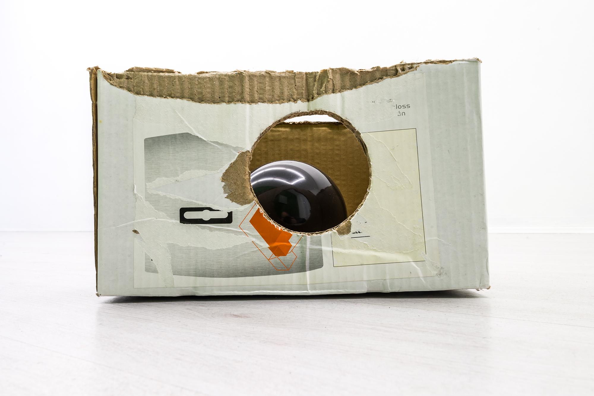 Luca Scarabelli - Window shopping, 2015, cardboard, black marble