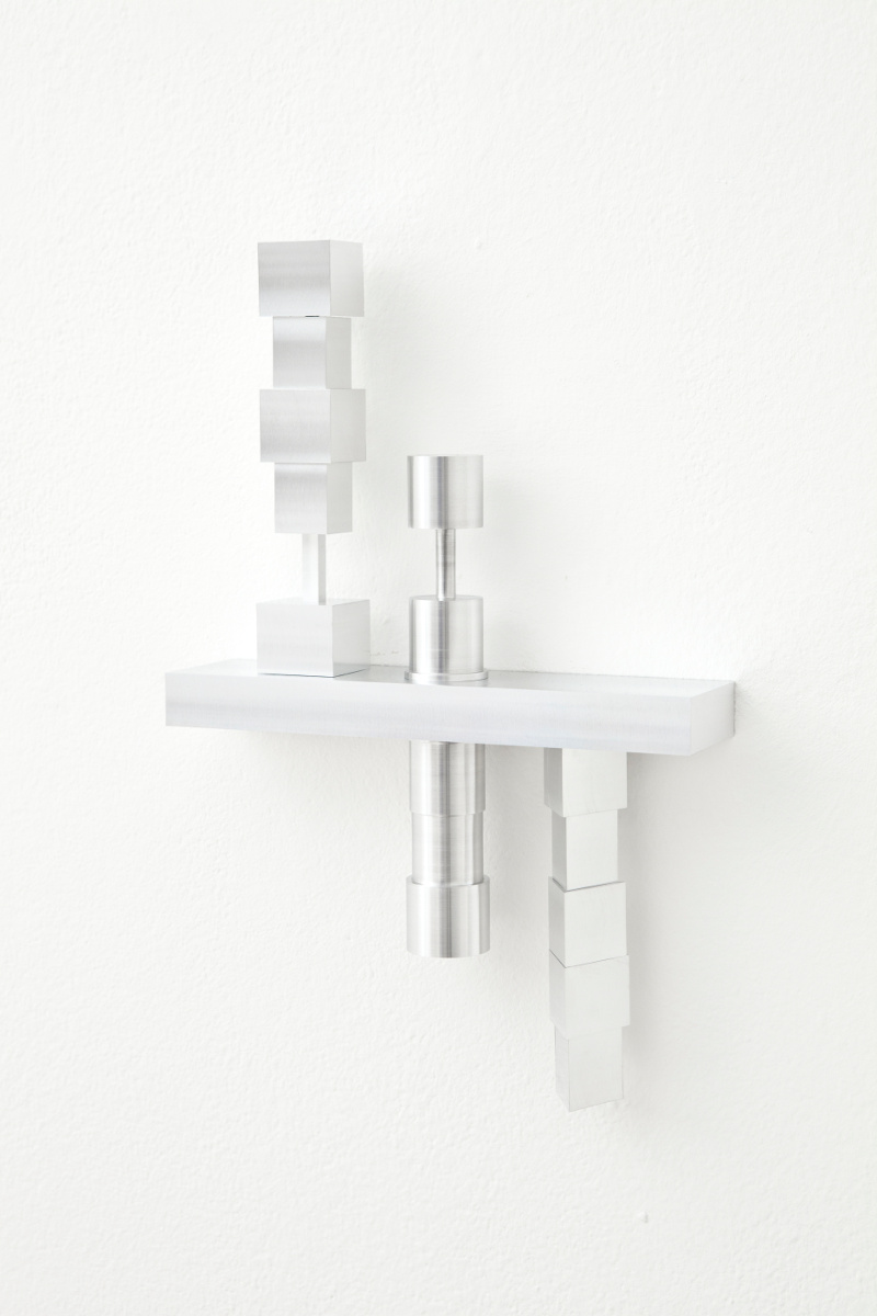 Sivlia Hell, VRS (veglia, ricordo, sogno), 2014, alluminio, 30x20x5 cm. Ed. 1 di 3.