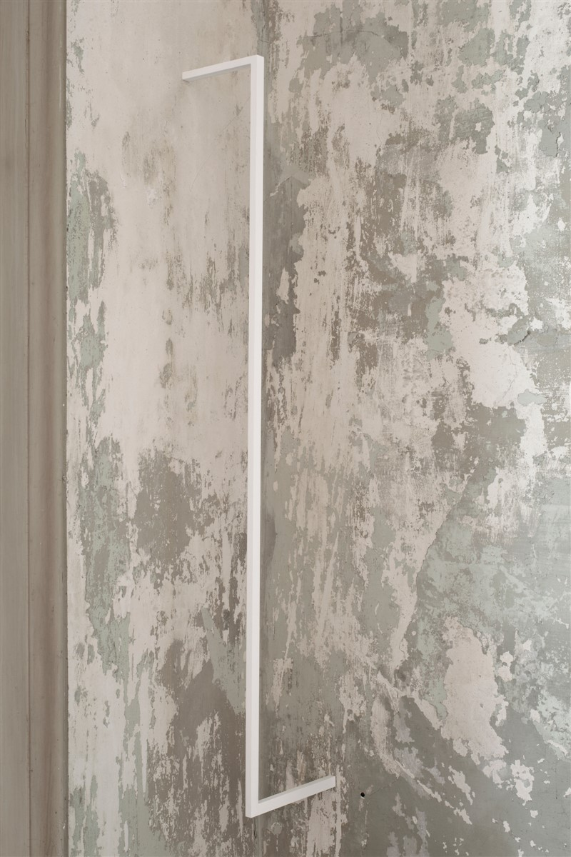 023. Stephanie Stein Bugs 2014 Balsawood and Gouache - 114x15x1.5 cm - courtesy AplusB Brescia