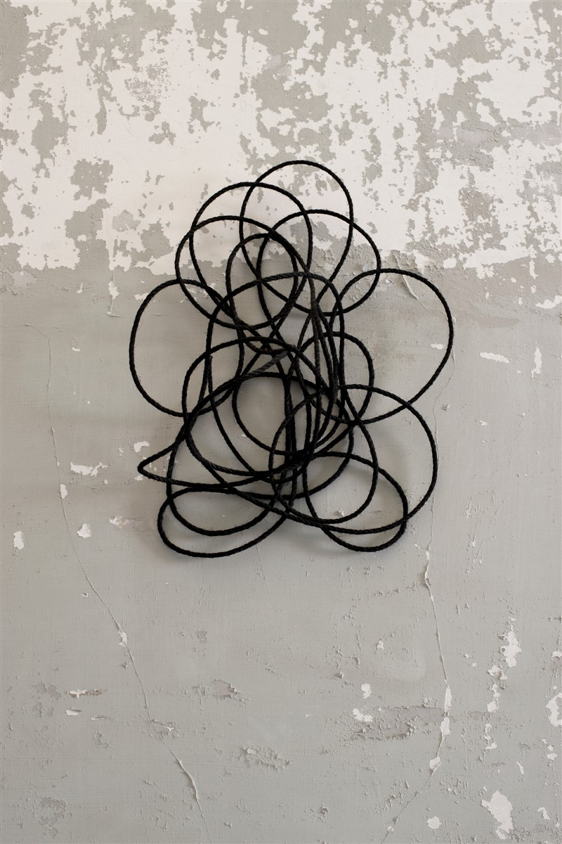 024. Stephanie Stein Internationale spezialitat 2014 - Rope and Acrylic - 62x38x21cm - courtesy AplusB Brescia
