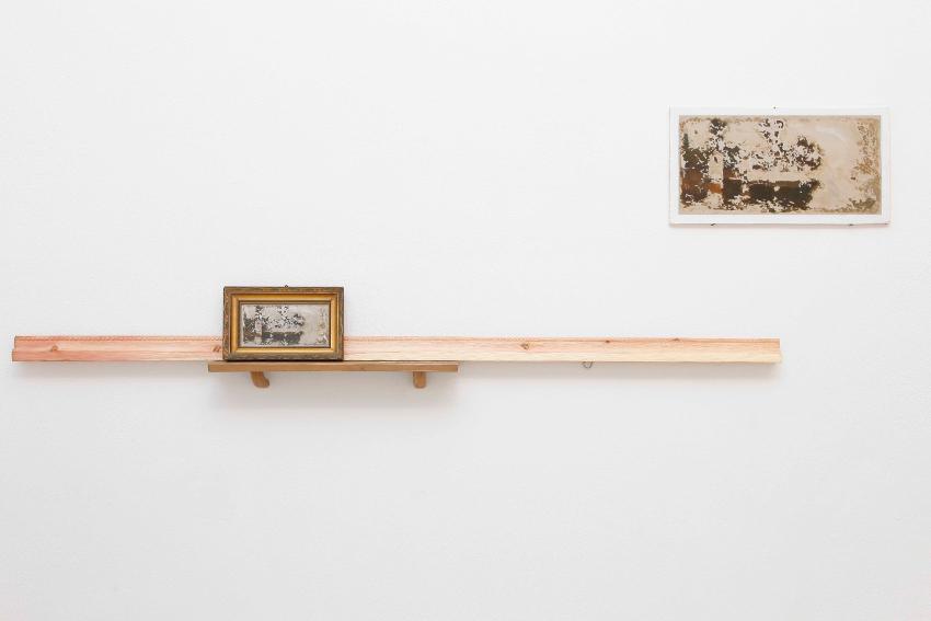 07 - Marco Gobbi, Far from what once was, quadro trovato, legno di cirmolo, olio su tavola, metallo, dimensioni variabili, 2014. A+B Brescia