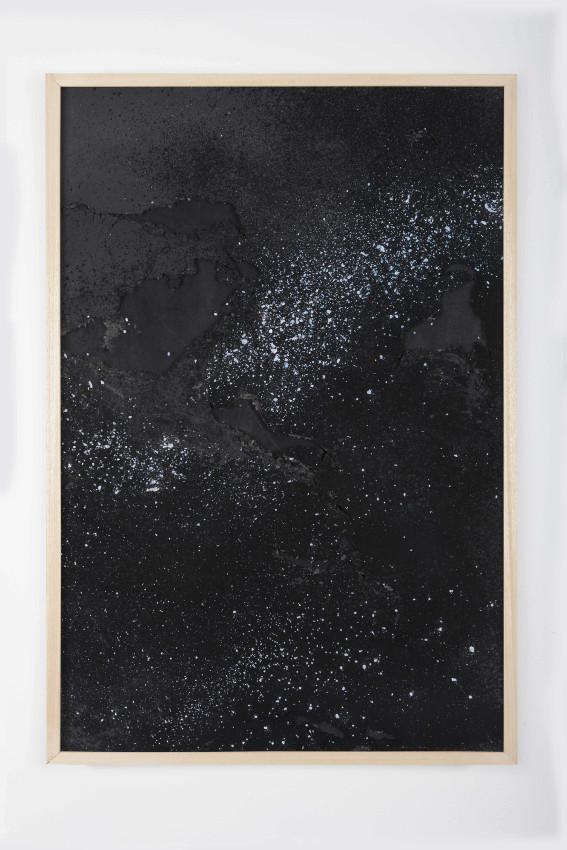 15 - Sophie ko, geografie temporale - Ash, pigment, frame, 25x40cm, 2014