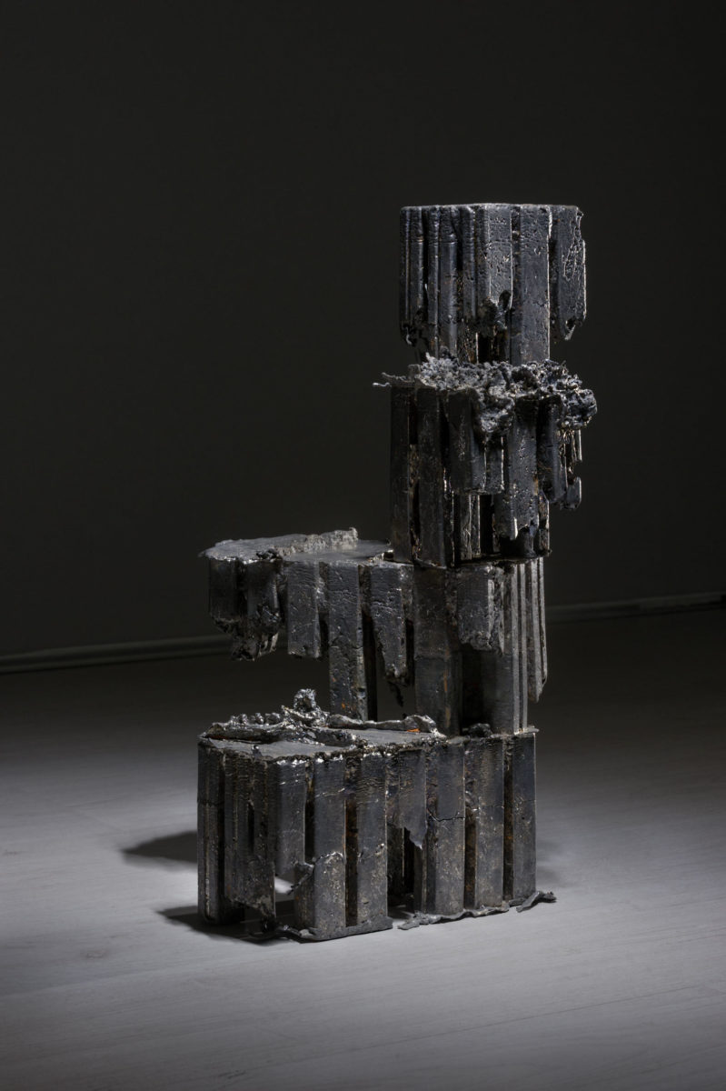 Marco La Rosa, Untitled (Apoteosi), 26x26x47cm, piombo, 2016