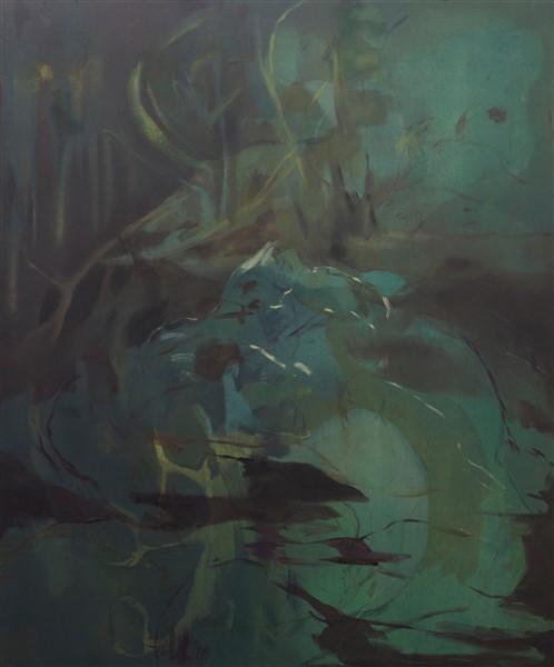 NPM Ohne Title (blu) 2015 olio su tela 120x100cm (498 x 600)