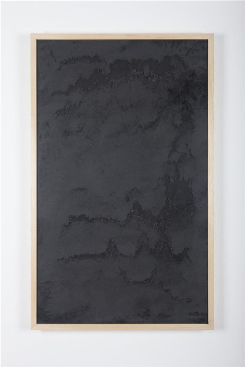 sophie ko chkeidze, geografia temporale, delle stelle fisse 2, pigment, ash, 100x60cm, 2014