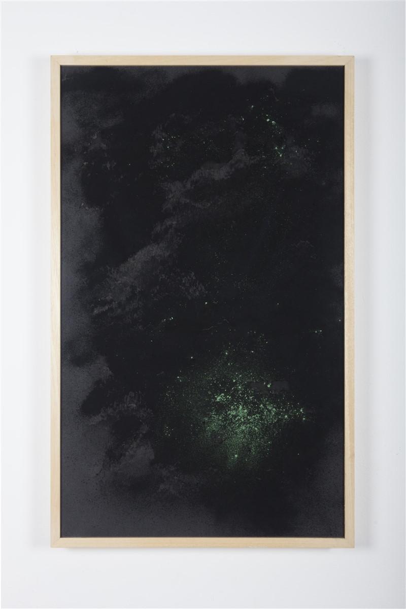 sophie ko chkeidze, geografia temporale, delle stelle fisse 3, pigment, ash, 100x60cm, 2014