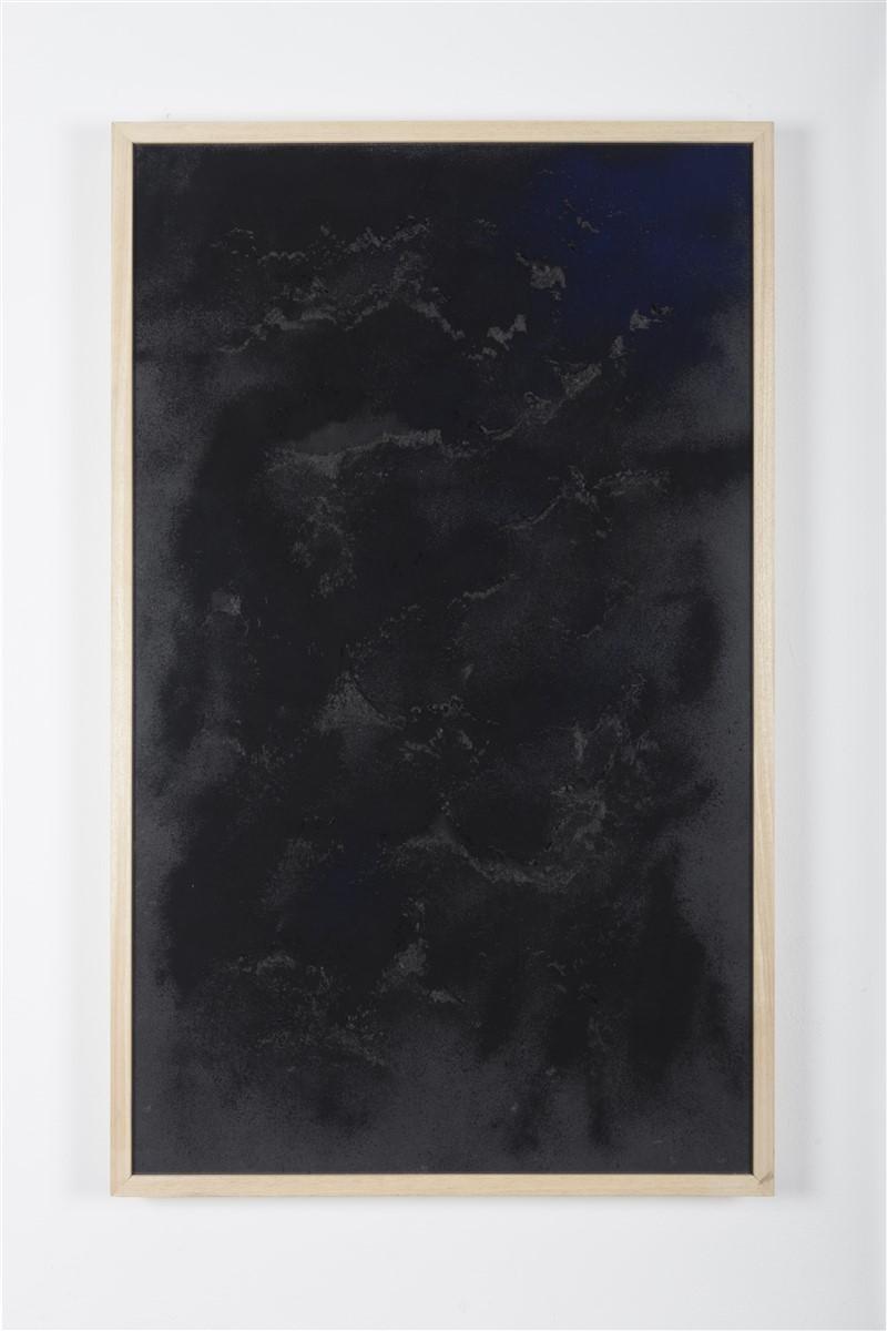 sophie ko chkeidze, geografia temporale, delle stelle fisse 4, pigment, ash, 100x60cm, 2014
