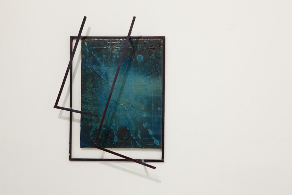Max Frintrop, Untitled, 50x40x15cm, oil on canvas, ink, wood, glue 2013, A+B gallery, Brescia it