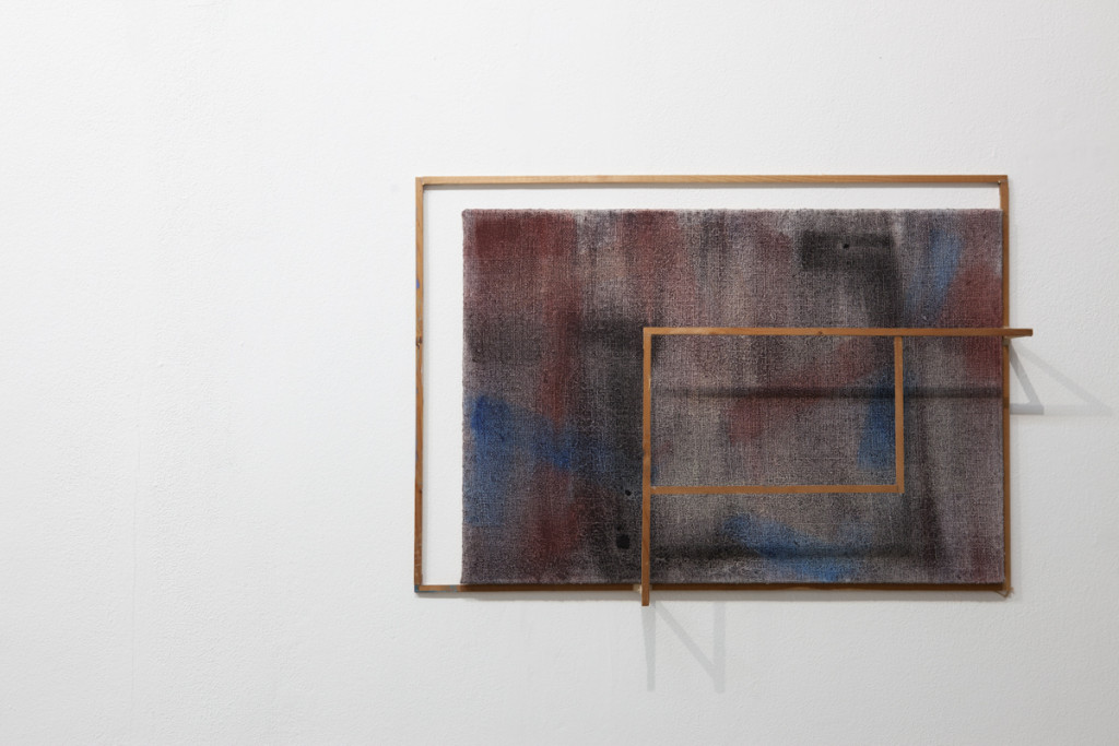 Max Frintrop, Untitled, 50x70x15cm, oil on canvas, ink, wood, glue 2013, A+B gallery, Brescia it