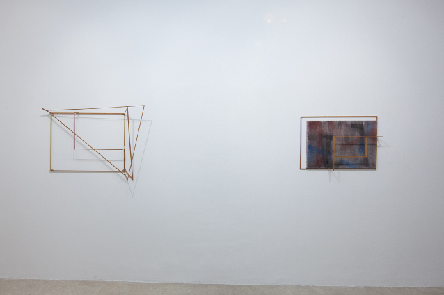 Max Frintrop exhibition view #abstraction A+B gallery Brescia it