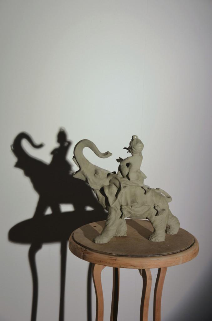 06-Marco-Gobbi.-Copy-with-original-shadow-2014-Argilla-legno-ferro-grafite-ombra-luce-678x1024