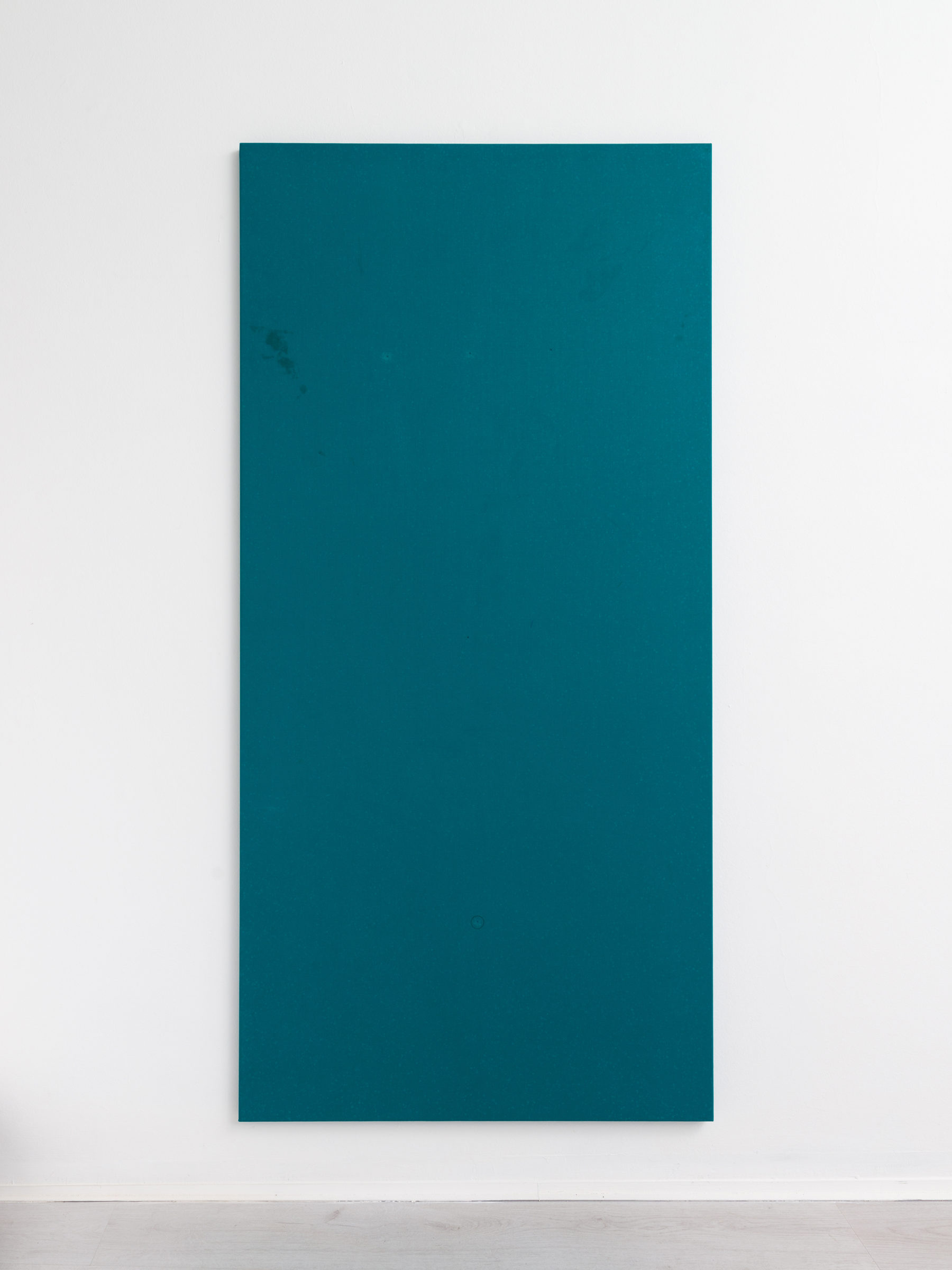 1.Simon Laureyns, used pooltable felt, 190x90cm - 2016