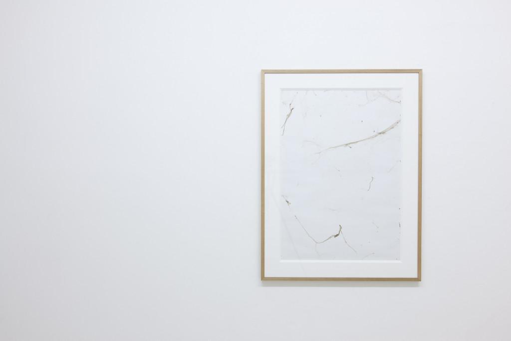 2. Emanuele Becheri, Impressioni #7, spider webs on adhesive paper, 100x70cm, 2010