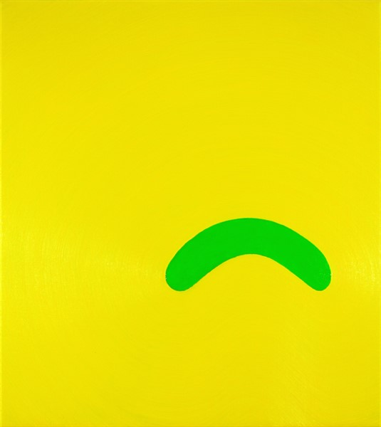 Osamu Koabayshi, Pickle Frown, 2015, oil on linen, 46cm x 51cm