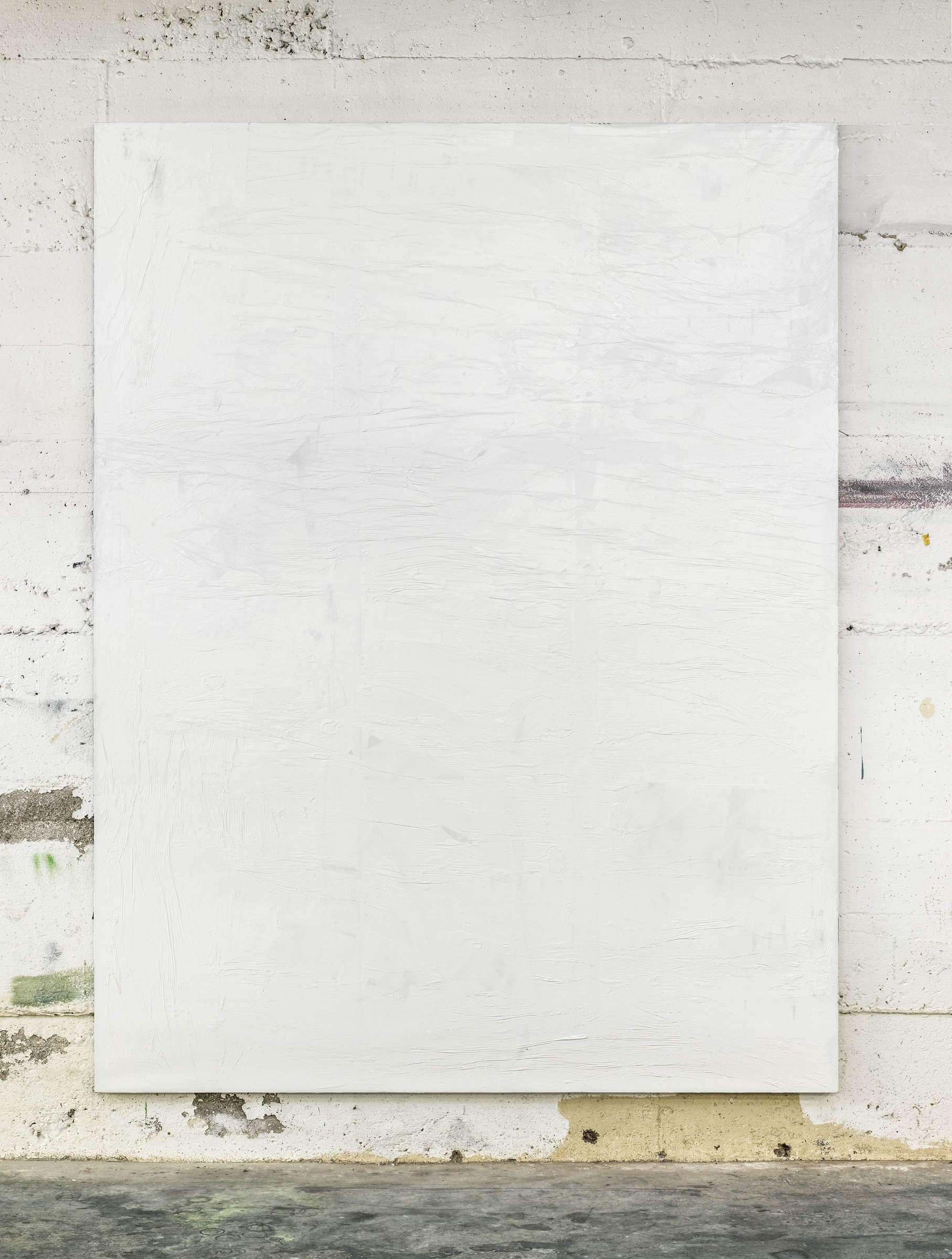 20_tiziano martini, 2015, untitled, white acrylic paint on polyester on wooden stretcher, cm 260x200, photo Dejna Saric
