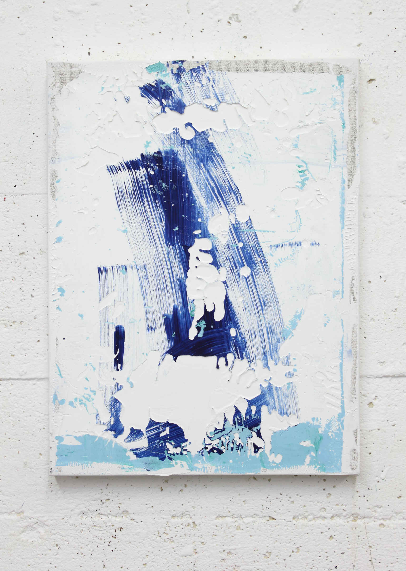 34_untitled, 2015, acrylic paint and monothype process on primer on cotton, cm 40x30