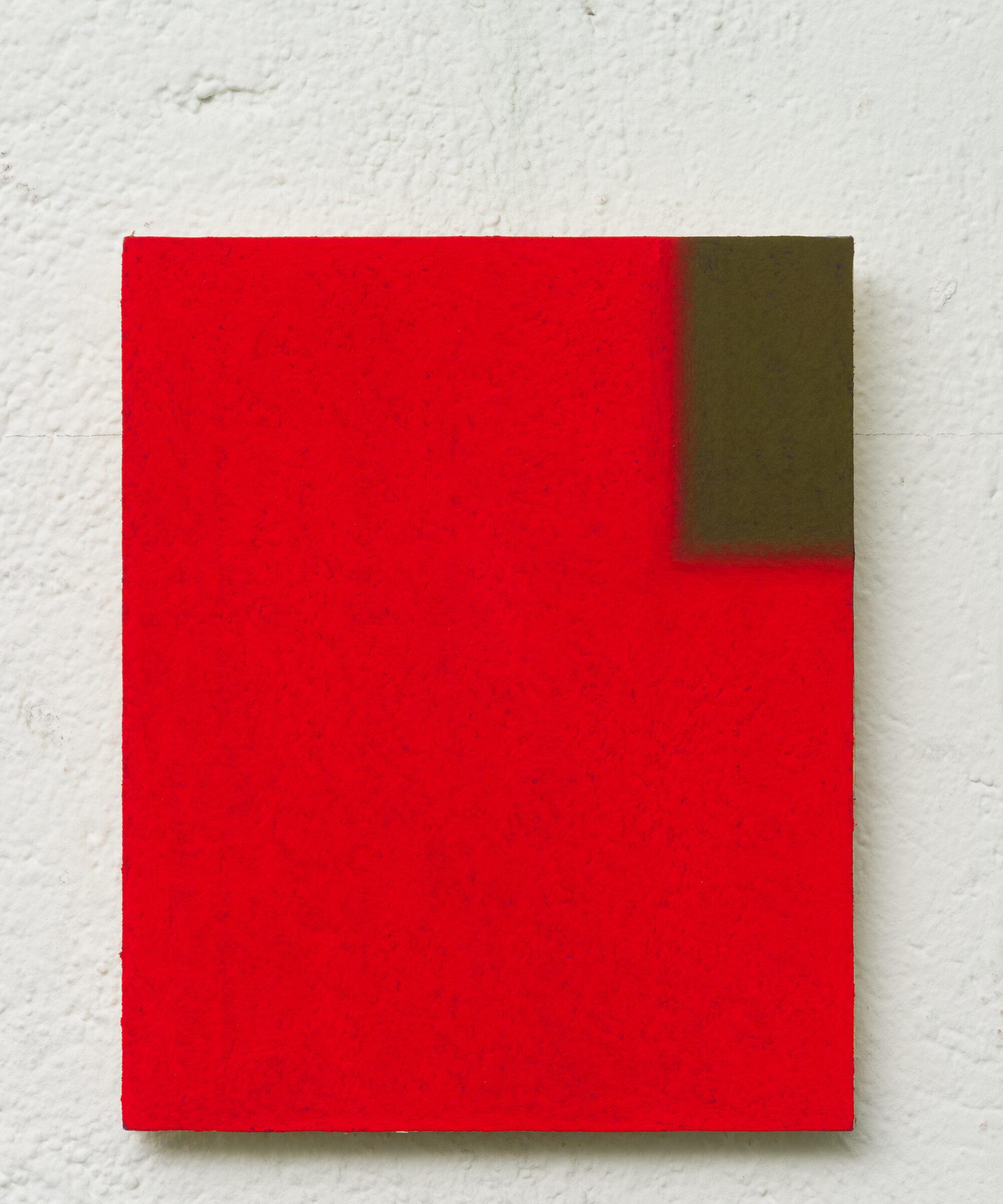 6. LM, untitled, 15x21cm, pastello morbido su carta abrasiva applicata su tavola, 2017
