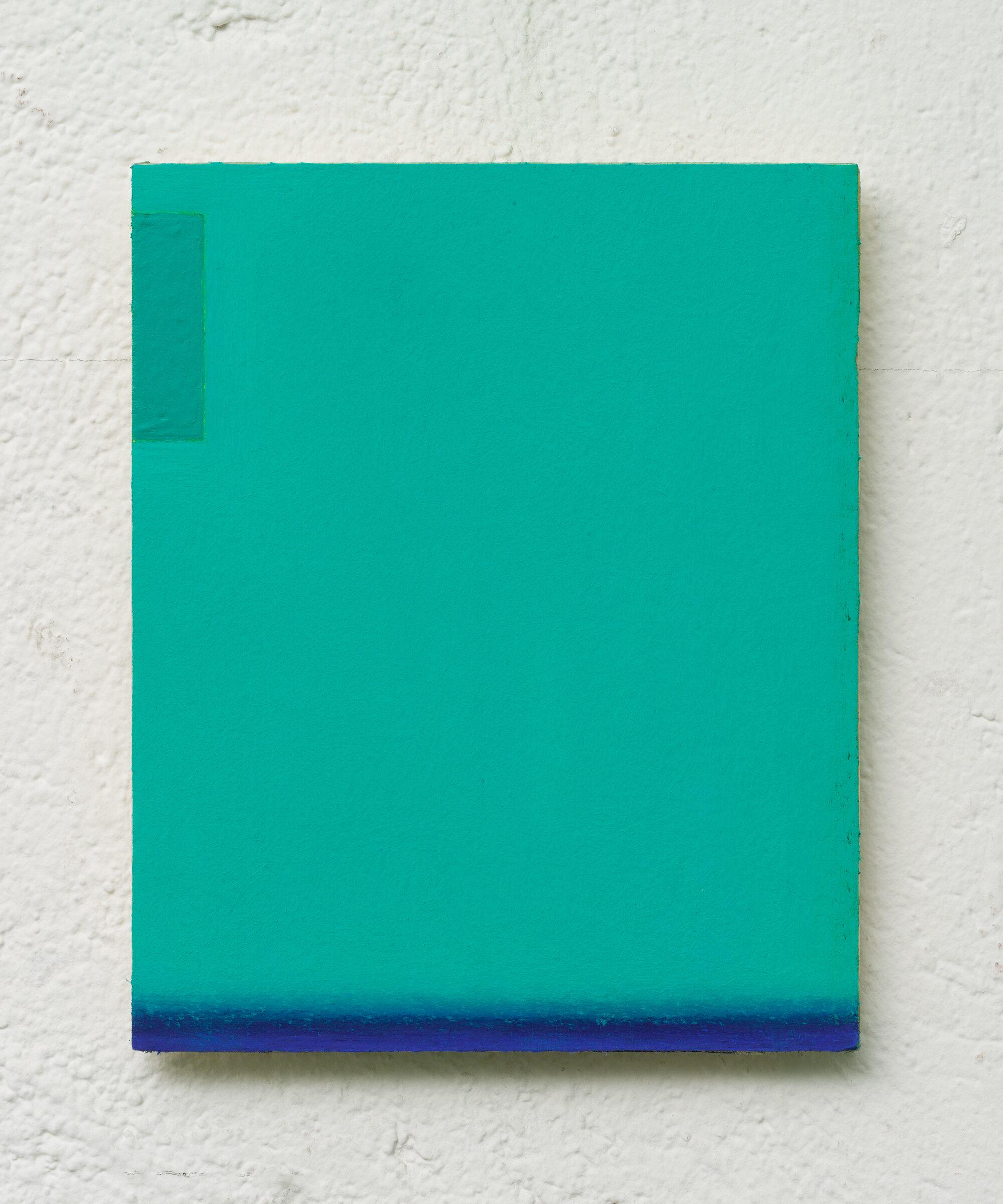 7. LM Untitled, 15x21cm pastello morbido su carta abrasiva applicata su tavola, 2017