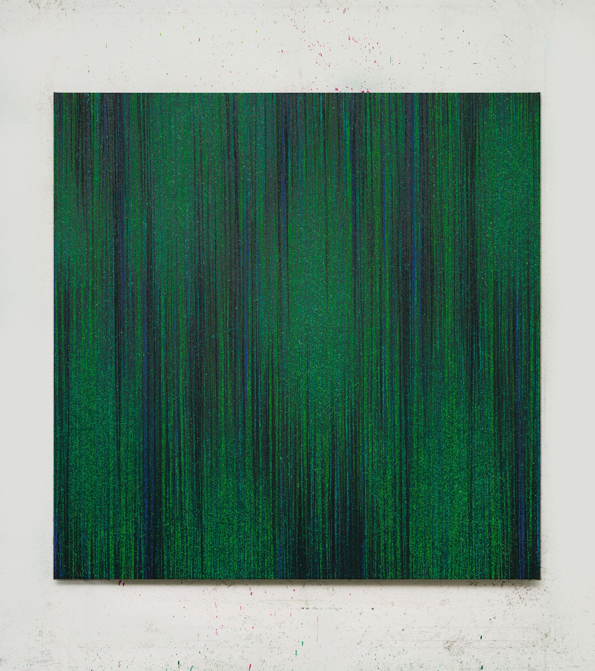8. LM, Untitled, pastello e acrilico su tela, 135x135cm, 2017