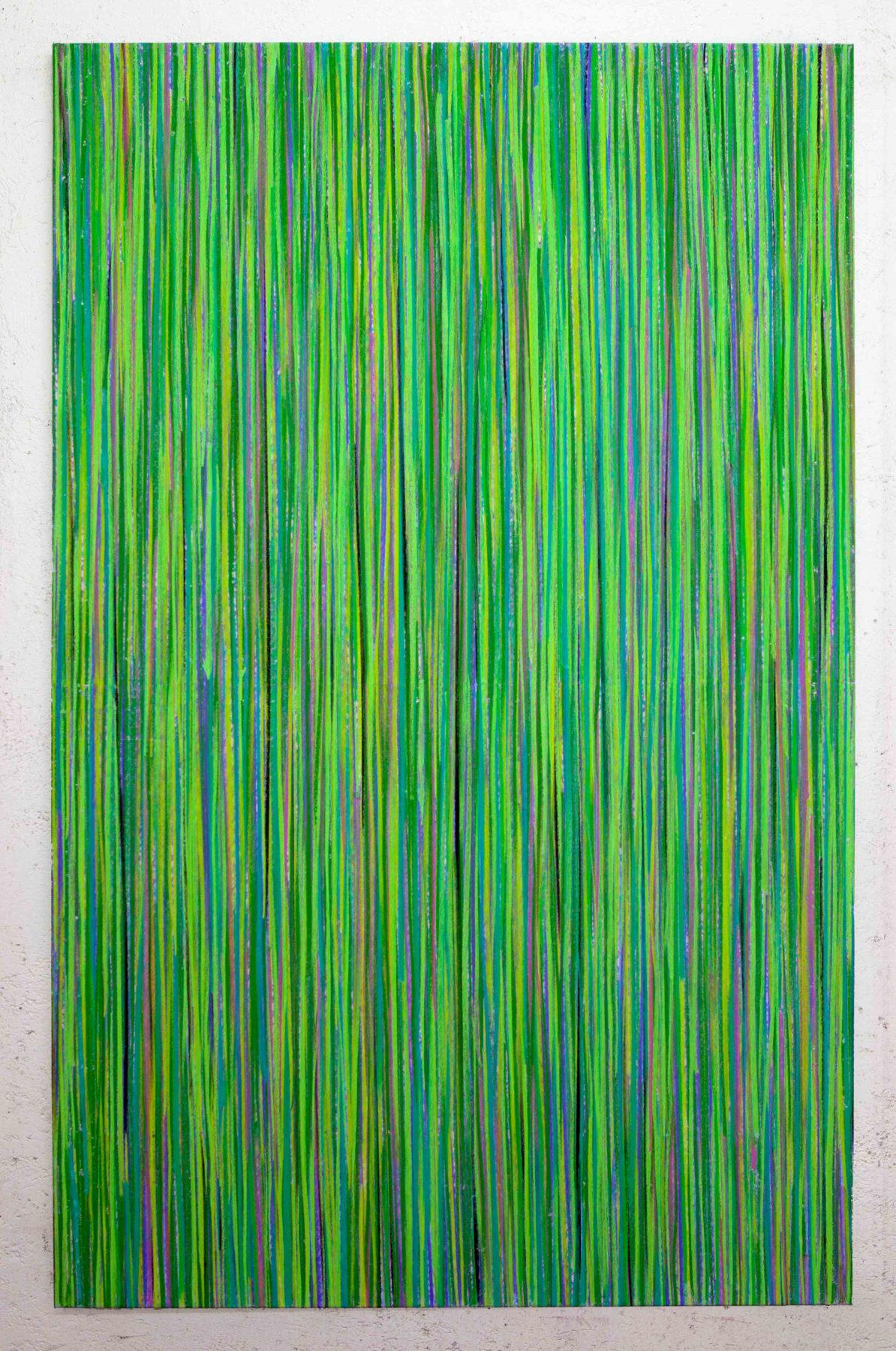 Luca Macauda, Alla testa dell'acqua, 2016, pastello morbido su tela, 190x120cm