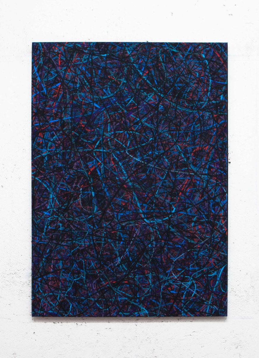 Luca Macauda, ST, pastello morbido su tela, 105x75cm, 2015