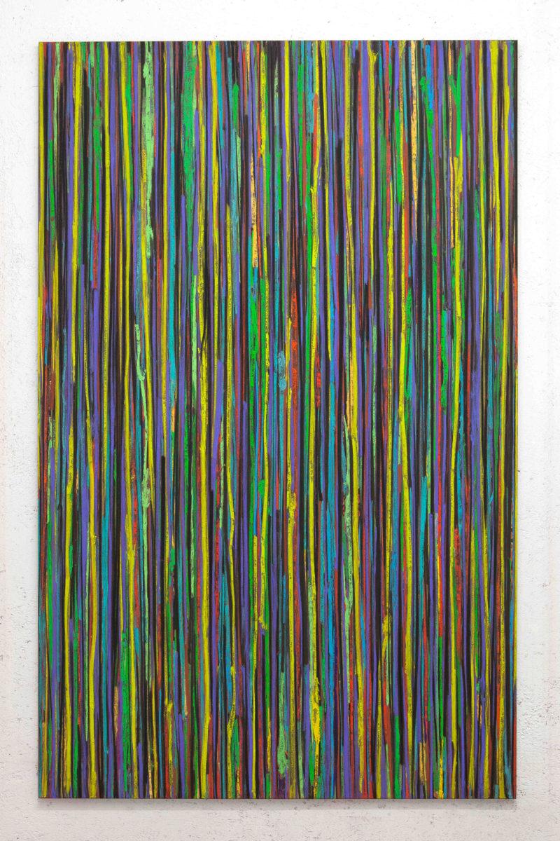 Luca Macauda, ST, pastello morbido su tela, 190x120cm, 2016