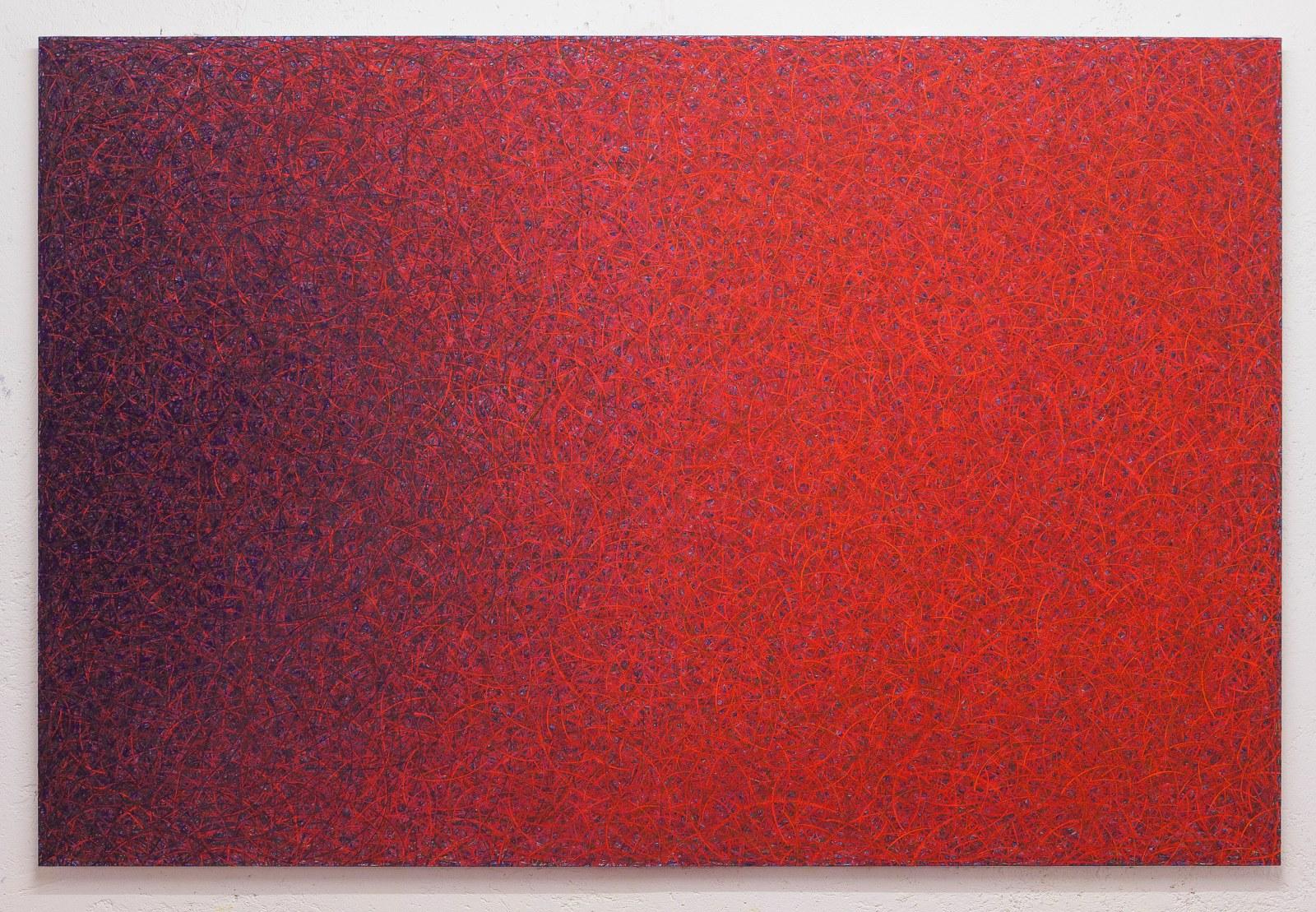 Luca Macauda, untitled, 136x205cm, pastello morbido su tela, 2014
