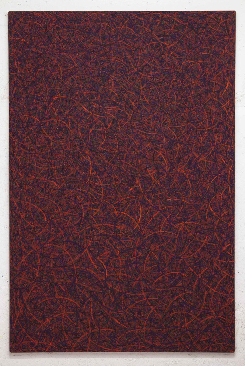 Luca Macauda, untitled, 202x134cm, pastello morbido su tela, 2014
