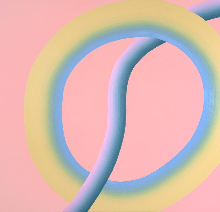 Osamu Kobayashi, olio su tela, Thread II, 122 x 127cm
