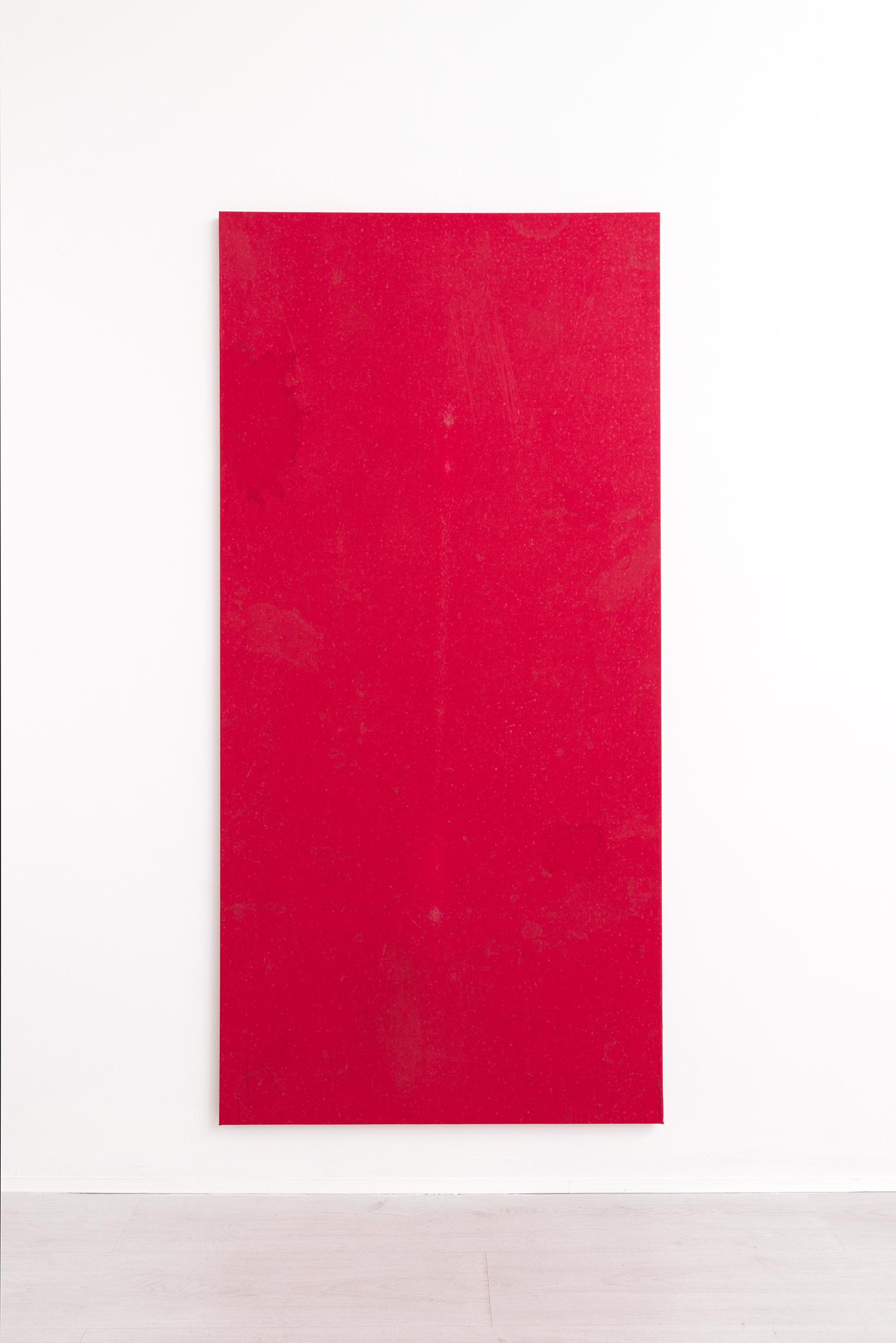4.Simon Laureyns, used pooltable felt, 190x90cm - 2017